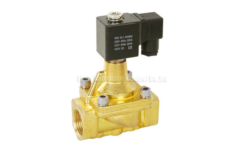 High Temperature Two Way Solenoid Valve , 13mm PU Series Solenoid Pilot Valve